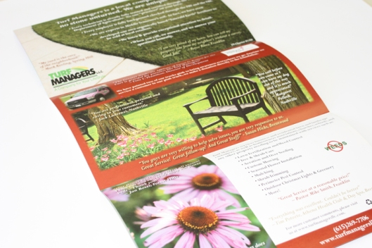 Turf Managers, Brochure, Trifold brochures, brochure mailer, mailers, fliers, flyers, handouts, promotional brochures, promo brochures, full color brochures, color brochures, color mailers, print shop, printer, printers, Franklin,TN, Franklin TN, Spring Hill, Spring Hill TN, TN, 37174, 37064, 37065, 37067, 37068, 37069, Harpeth Graphics, custom design, design, graphic design, graphic designers, Harpeth Graphics and design, Harpeth Graphics and printing, Franklin and printing, Franklin and graphic design, four color design, four color printing, digital printing, offset printing